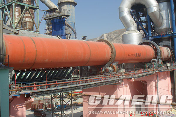 What are the main equipments of the lime/cement rotary kiln system?