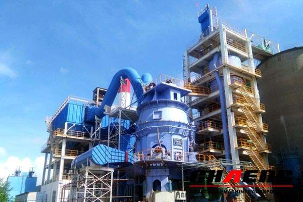 Chaeng grind (slag vertical roller mill) the waste slag for slag cement production