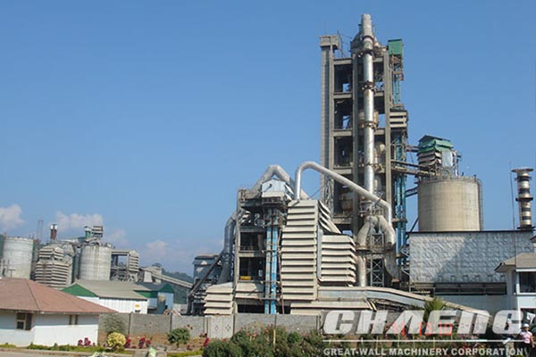 CHAENG supply 300TPD mini cement plant and auxiliary equipment