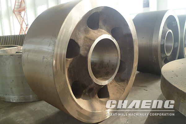 Kiln supporting roller